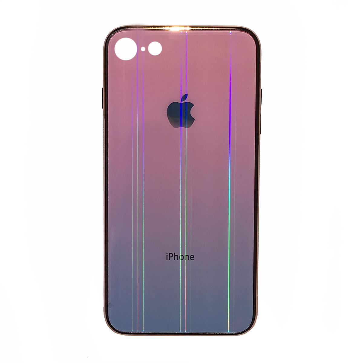 Чехол накладка xCase на iPhone 6 Plus/6sPlus Glass Shine Case Logo pink