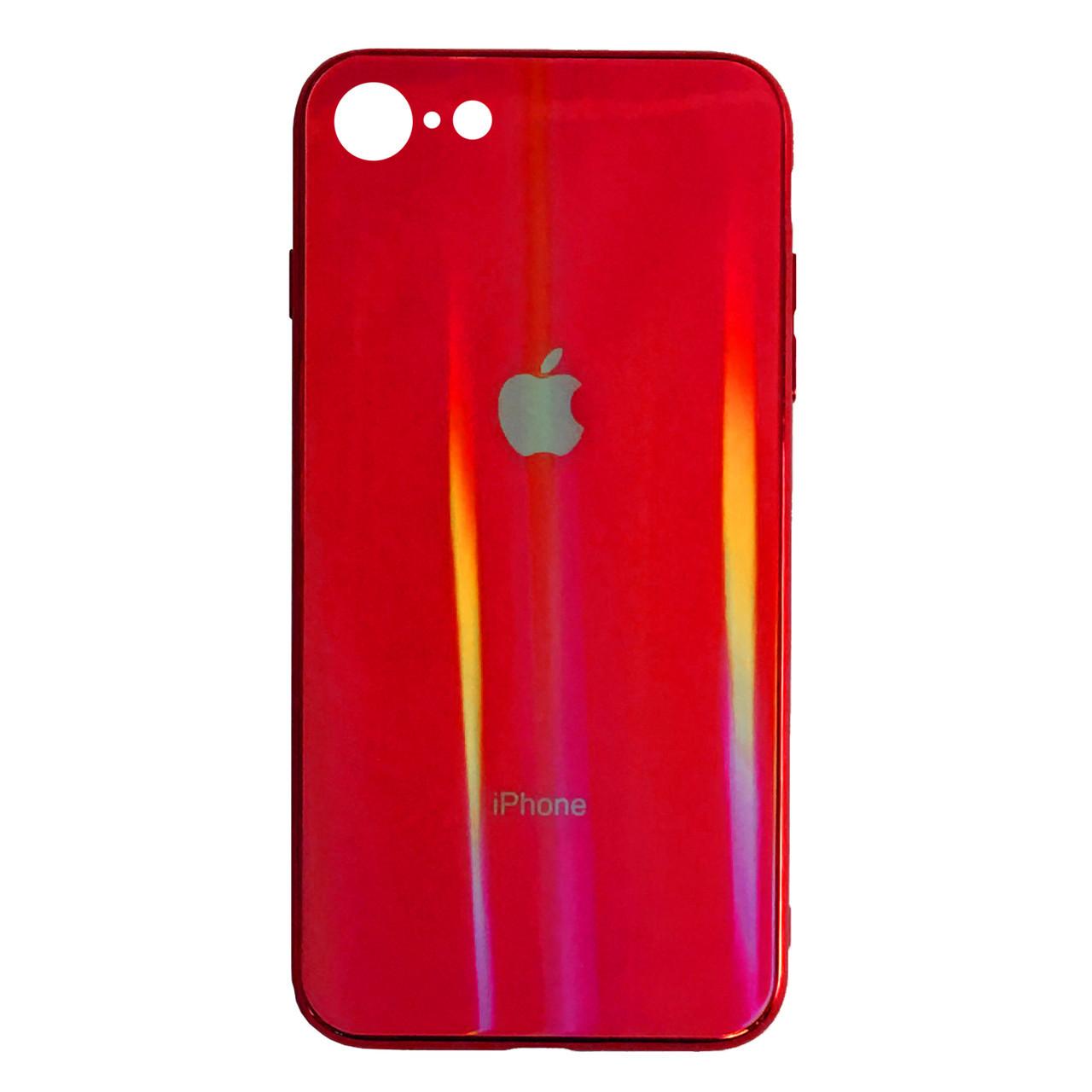 Чехол накладка xCase на iPhone 7/8 Glass polaris Case Logo red