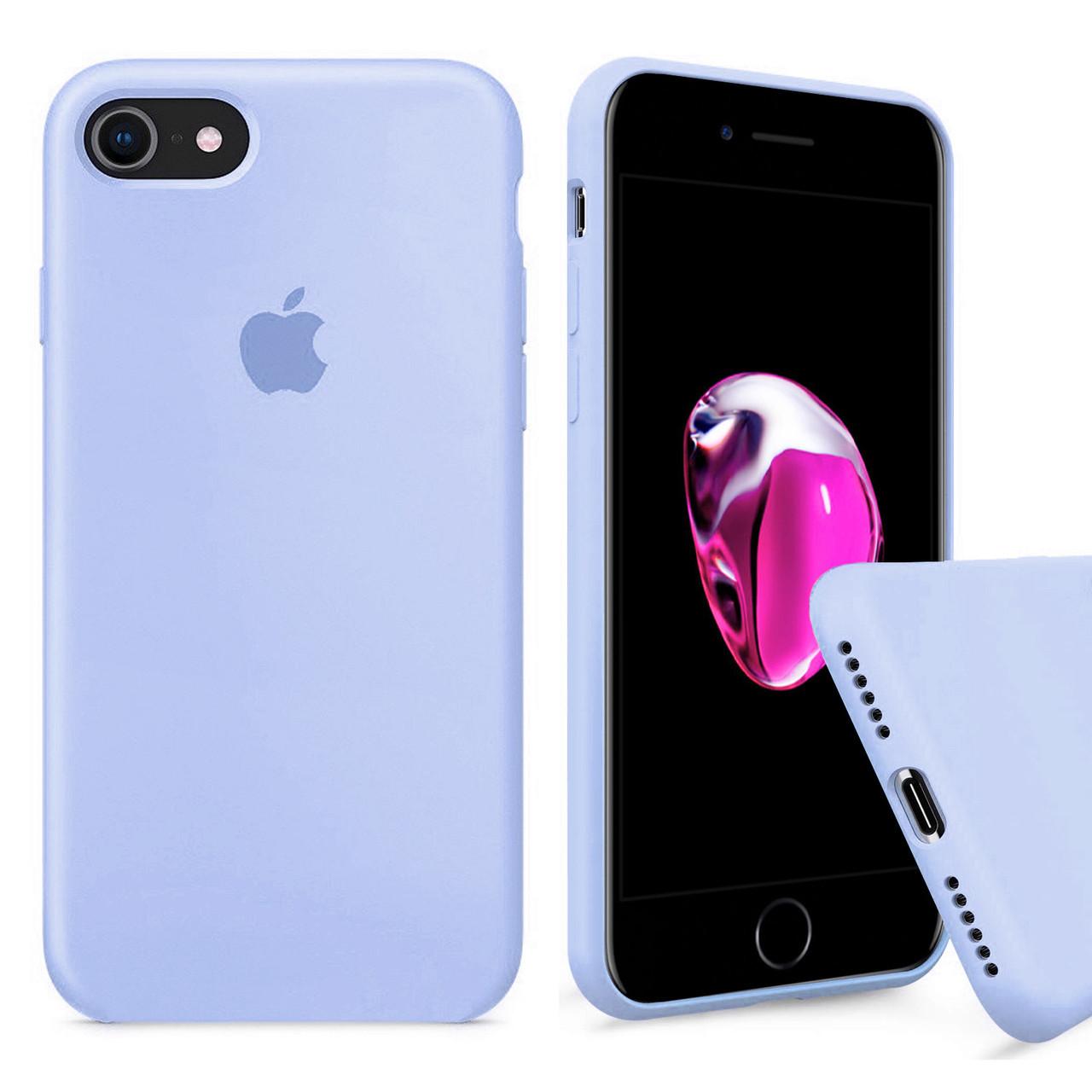 Чехол накладка xCase для iPhone 6/6s Silicone Case Full светло голубой