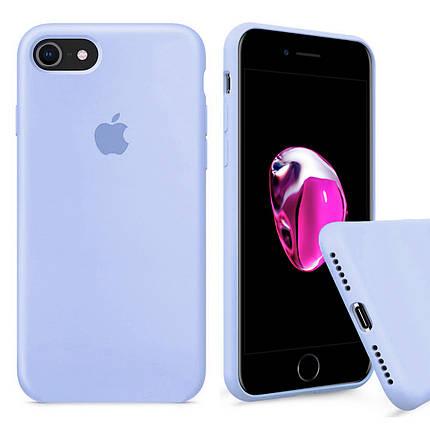 Чехол накладка xCase для iPhone 6/6s Silicone Case Full светло голубой, фото 2