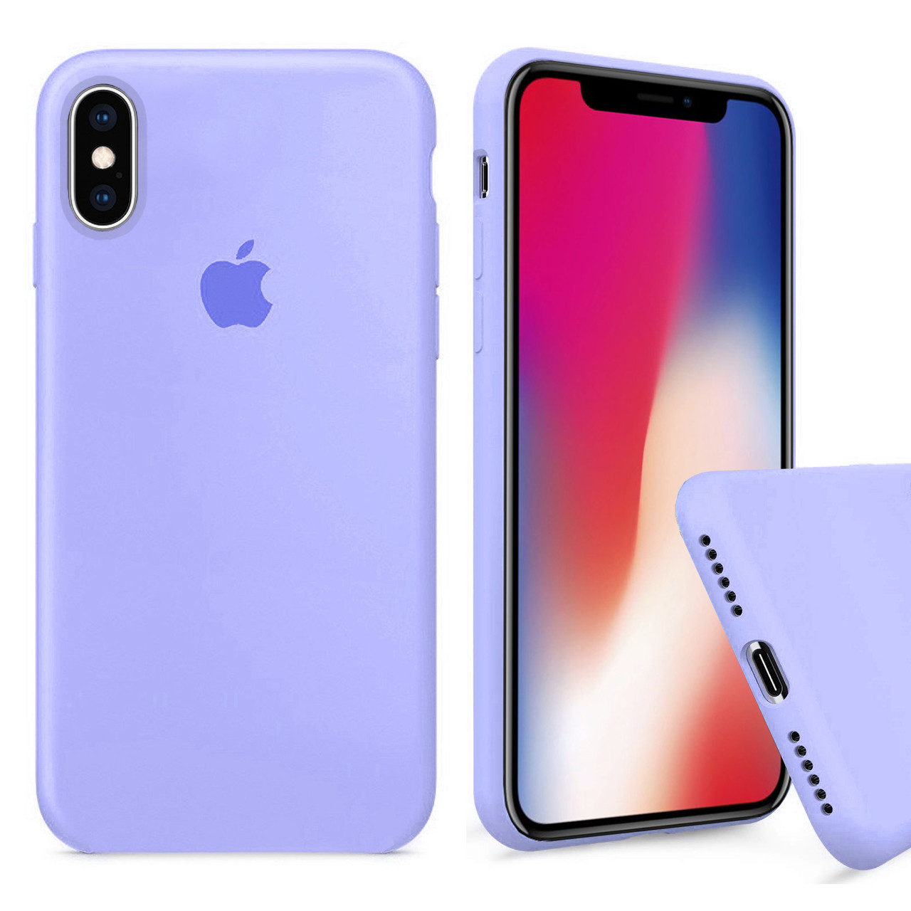 Чехол накладка xCase для iPhone X/XS Silicone Case Full филковый