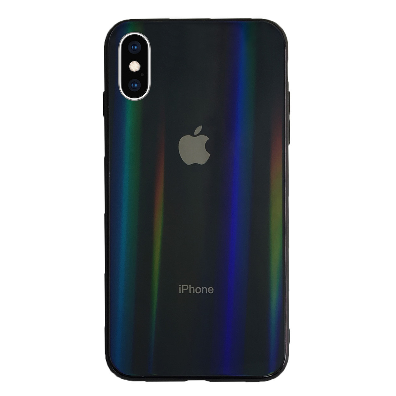 Чехол накладка xCase на iPhone XS Max Glass polaris Case Logo black