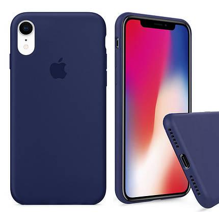 Чехол накладка xCase для iPhone XR Silicone Case Full темно синий, фото 2