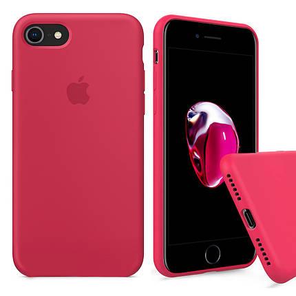 Чехол накладка xCase для для iPhone 6 Plus/6sPlus Silicone Case Full светло малиновый, фото 2