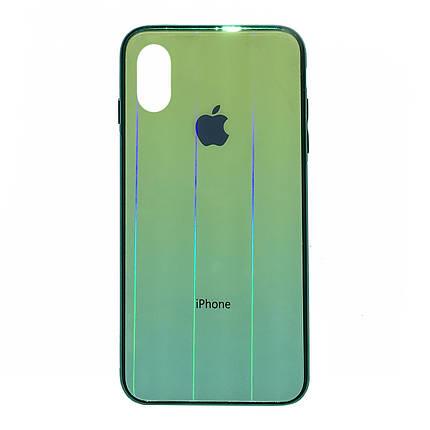 Чехол накладка xCase на iPhone XR Glass Shine Case Logo green, фото 2