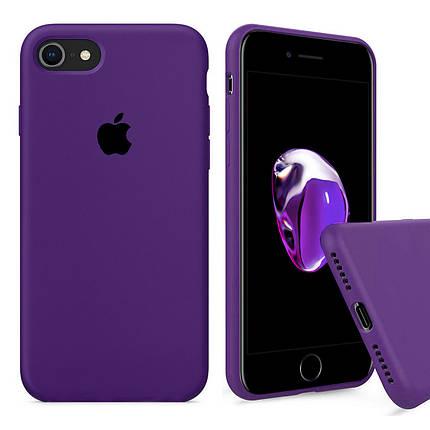 Чехол накладка xCase для iPhone 6/6s Silicone Case Full purple, фото 2