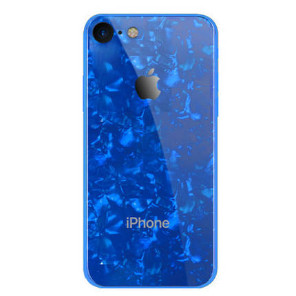 Чехол накладка xCase на iPhone 6/6S Glass Marble Case blue, фото 2