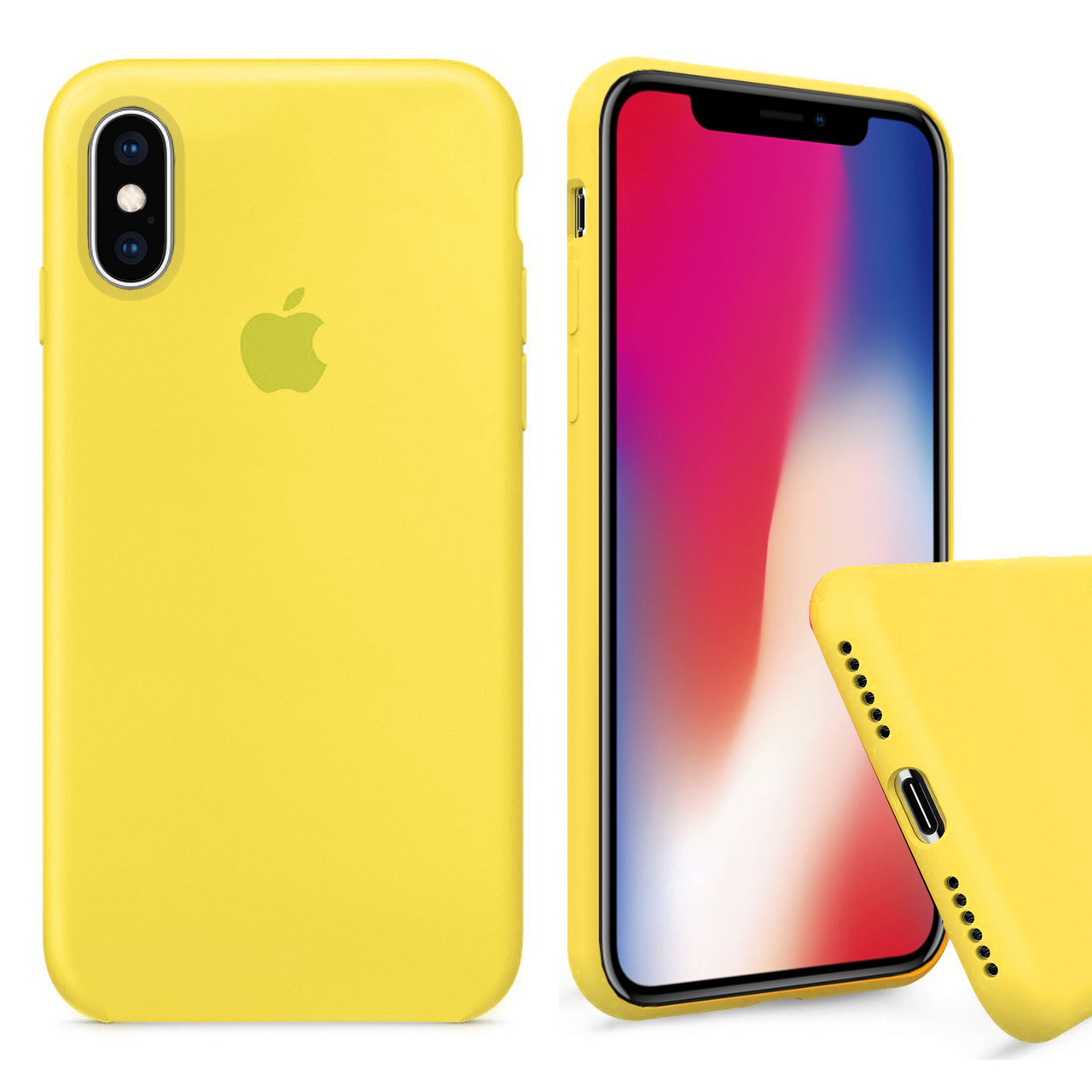 Чехол накладка xCase для iPhone XS Max Silicone Case Full canary yellow