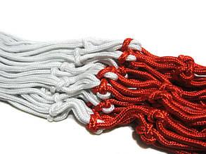 Сетка баскетбольная, BL-1-300, бело/красная, вес 325г, L=50cm, D45cm, Dшнура 6мм