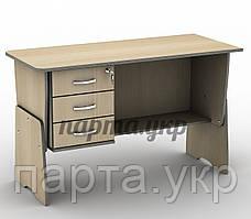 Детский письменный стол 120 см, с регулировкой высоты ТСП-12 и тумба Т-3