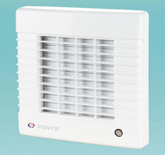 Побутовий вентилятор з авто-жалюзі Вентс 125 МА