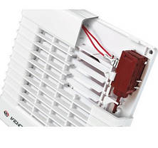 Побутовий вентилятор з авто-жалюзі Вентс 125 МА, фото 2