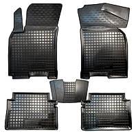 Коврики в салон Chevrolet Lacetti (J200) 2005 - черные, полиуретановые (Avto-Gumm, 11134) - комплект (4 шт.) + перемычка
