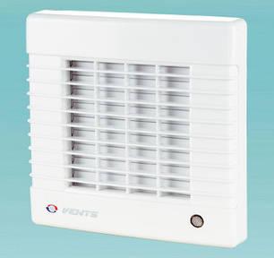 Побутовий вентилятор з авто-жалюзі Вентс 125 МАТ (обладнаний таймером), фото 2