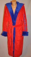 Мужской  халат с поясом красного цвета, фото 1