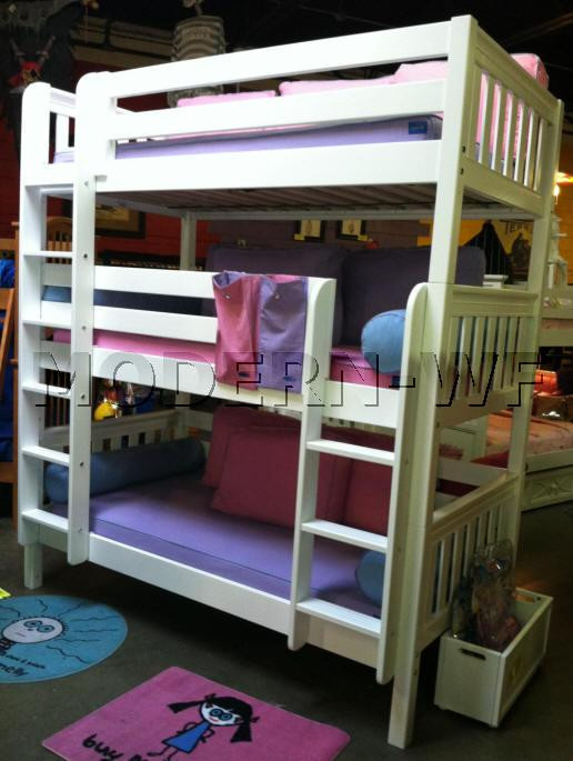 """Триярусне ліжко """"Вектор"""" з масиву дерева"""