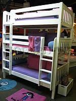 """Трехъярусная кровать """"Вектор"""" из массива"""