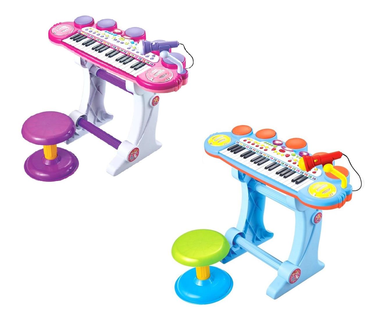 Дитячий синтезатор BB45BD, музика, світло, USB, MP3