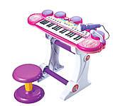 Дитячий синтезатор BB45BD, музика, світло, USB, MP3, фото 2