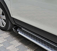 "Пороги ""X-5 тип"" Ленд Ровер Фрилендер Land Rover Freelander 2007+"