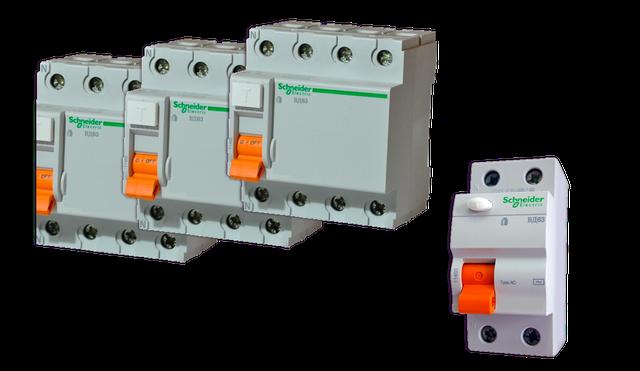 Дифференциальные выключатели Schneider Electric