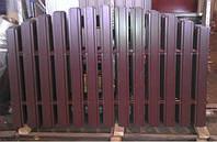 Секция односторонняя Стандарт 2м*2м. Металлический жалюзи.
