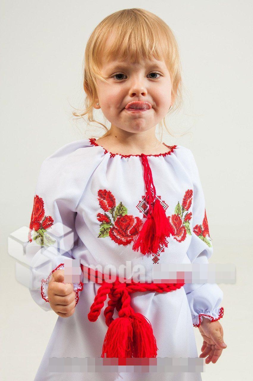 Вышитое детское платье Зоряна