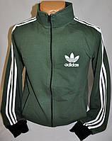 Спортивная мужская кофта Adidas с полосами на застежку