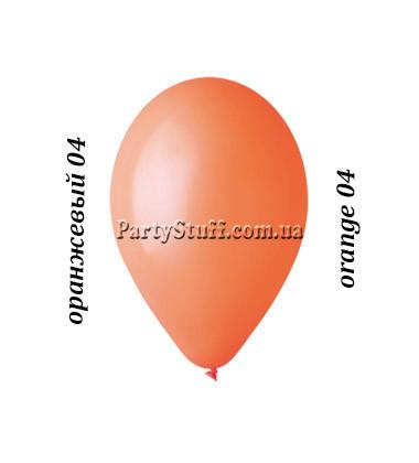 Воздушные шарики Gemar G90 пастель ОРАНЖЕВЫЙ 10' (26 см) 100 шт