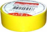 Изолента из самозатухающего ПВХ, желтая (20м) Енекст