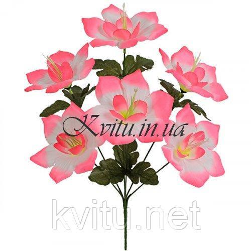 Искусственные цветы букет клематиса крупный, 39см