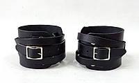 Напульсники кожаные на руку универсальный  (2 шт, кожа)
