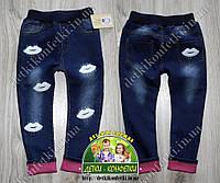 Джинсы с вышивкой для девочки