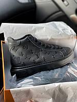 Кроссовки Louis Vuitton Sneakers High Black sne Луиз вуиттон