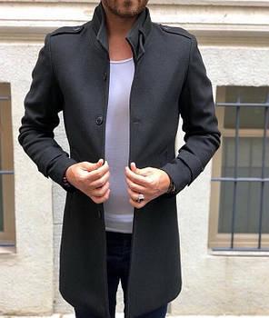 Элегантное кашемировое пальто c воротом стойкой, фото 2