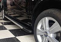 """Пороги """"Porsche-style"""" на Тойота Хайлендер Toyota Highlander  2008+"""