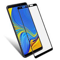 Защитное стекло для Samsung Galaxy A9 2018 A920 Самсунг клеится по всей поверхности черный 2.5D