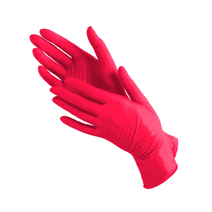 Нитриловые перчатки размер S, красные
