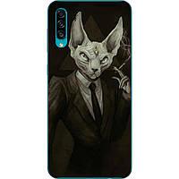 Силиконовый чехол с рисунком для Samsung A30s Galaxy A307F Кот в костюме