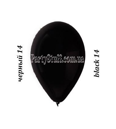 Воздушные шарики Gemar G90 пастель ЧЕРНЫЙ 10' (26 см)