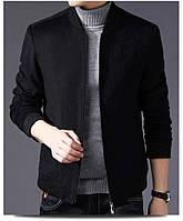 Мужская кашемировая куртка бомбер черная