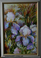 Картина цветы ИРИСЫ. Ирисы картина маслом.