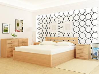 Кровать деревянная YASON Frankfurt PLUS с подъемным механизмом (Массив Ольхи либо Ясеня)