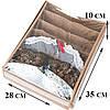 Коробка с крышкой для бюстиков 28*35*10 см ORGANIZE (бежевый), фото 3