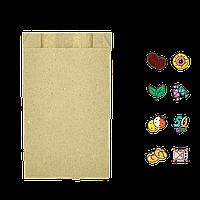 Бумажный Пакет крафт 170*100*40, (В*Ш*Г), (уп/100шт) 1000шт/ящ