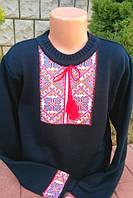 Вязанная вышиванка для мальчика