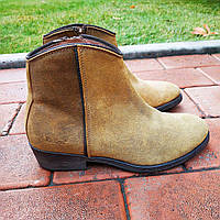 Ботинки казаки женские кожаные жёлтые Kickers, 37.5