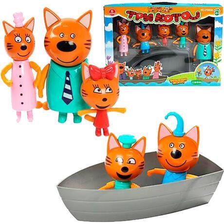 Игровой набор «Три кота» с лодкой  PS658