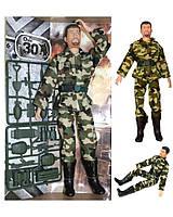 Солдат шарнирный 30 см с набором оружия RPC (A255B)