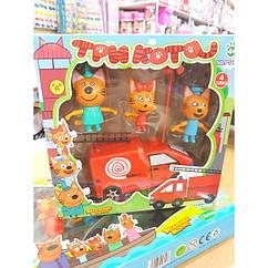 Игровой набор «Три кота» с пожарной машинкой PS661